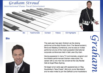 Graham Stroud, International Piano Vocal Entertainer